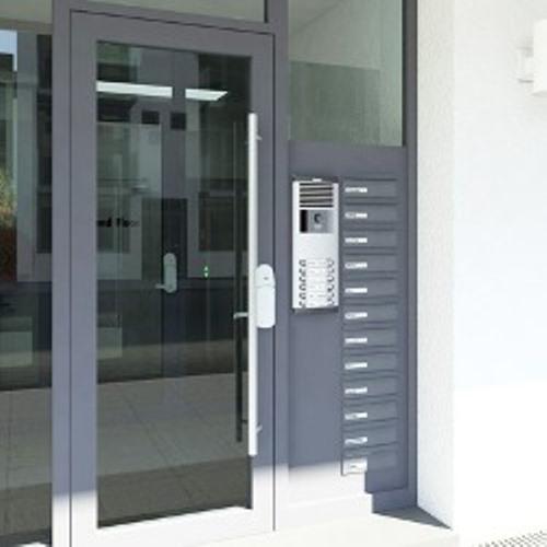 Porte d'allée d'immeuble - Service régies à lyon